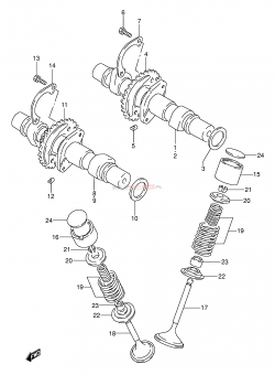 010 - CAM SHAFT - VALVE (MODEL K / L / M / N / P)